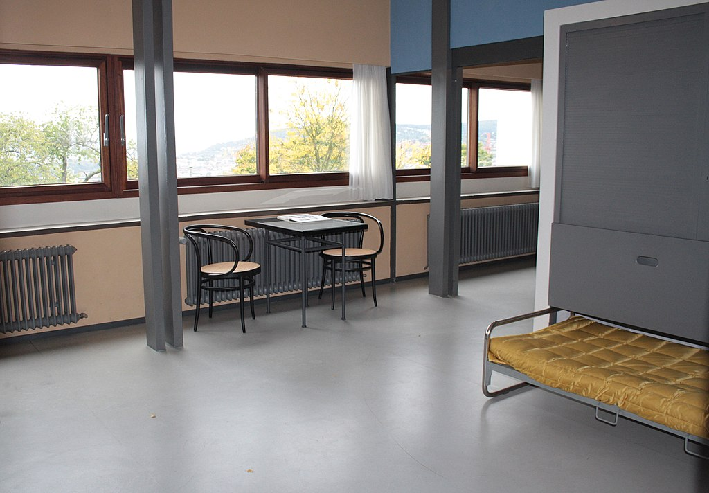 Nachgebildeter Innenraum Bauhausstil im Weißenhofmuseum Rathenaustraße 3, Stuttgart (Weißenhofsiedlung Stuttgart)