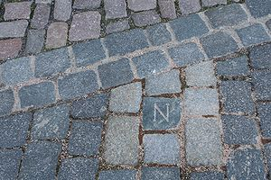 "Battle of Dresden - The Napoleon symbol ""N"" left in Dresden, Germany"