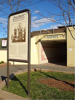 Narwee, New South Wales -  Hannans Road subway, the main access to Narwee railway station