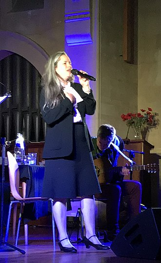 Natalie Merchant - Performing with guitarist Erik Della Penna at Emmanuel United Reformed Church, Cambridge, 28 July 2018