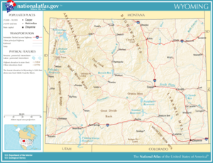 Wyoming Wikipedia - Map of northern wyoming