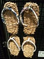 National Museum of Ethnology, Osaka - Sandals for Ama divers (Pearl divers) - Shima, Mie - Made in the 1930s.jpg