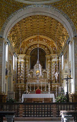 Legend of Nazaré - The main altar of the Sanctuary of Our Lady of Nazaré.