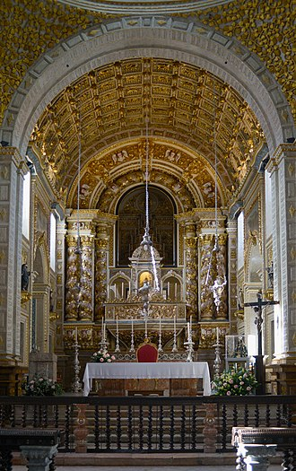 Legend of Nazaré - The main altar of the Sanctuary of Our Lady of Nazaré.