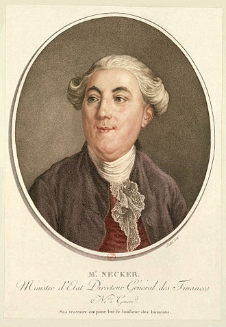 Jacques Necker - Necker, 1789 engraving
