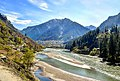 Neelum River with Sharda in the background, AJK, Pakistan.jpg
