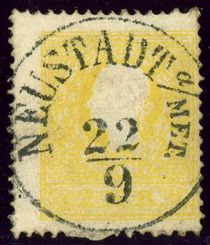 Nové Město nad Metují - Austrian KK stamp issue 1859, cancelled NEUSTADT A(N DER) MET(TAU)