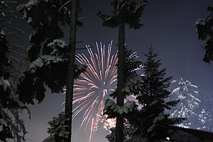 "New Years Eve at Borovets, outside hotel ""..."