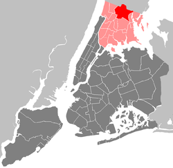 Community District 12 highlighted within The Bronx