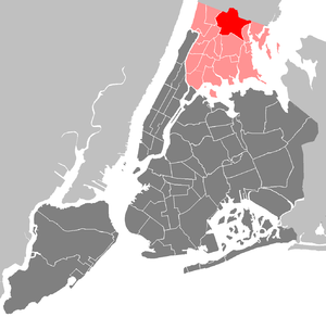 Bronx Community Board 12 - Community District 12 highlighted within the Bronx