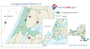 Kaart van het congresdistrict van Rangel