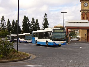 Newcastle Buses & Ferries - Buses at the Newcastle station layover