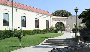 Loma Linda, California - Nichol Hall on the campus of Loma Linda University.
