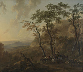 Mountainous Landscape with Muleteers