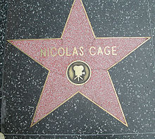 Stella di Nicolas Cage sulla Hollywood Walk of Fame, Los Angeles (California)
