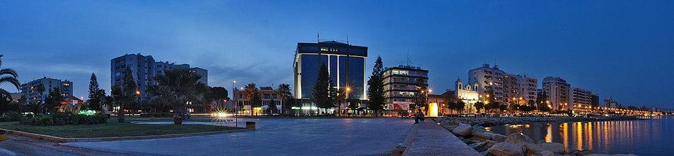 Limassol panorama by night.