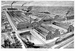 Hamilton, Ohio - Image: Niles Tool Works, Hamilton, Ohio, 1896