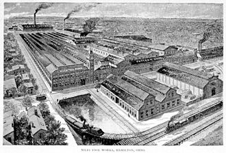 Hamilton, Ohio - Niles Tool Works in Hamilton, 1896.
