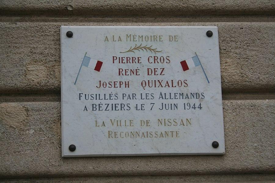 Nissan-lez-Enserune (Hérault) - plaque