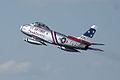 North American F-86F-30-NA Sabre Skyblazers Snodgrass 1st Pass 07 TICO 13March2010 (14412843040).jpg