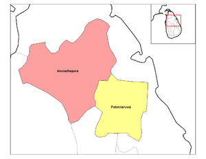 North Central Province, Sri Lanka - The two districts of the North Central Province.