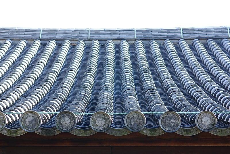 元興寺極楽坊本堂北側の屋根瓦