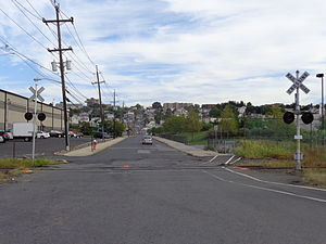 Northern Branch Corridor Project - Site of the proposed 91st Street station looking east at Bergenwood