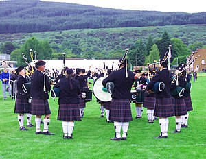 Dunoon - Pipe band at Cowal Highland Games