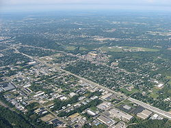 Aerial view of Northridge