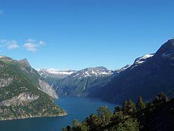 Fjord in Sunnmøre, Norway