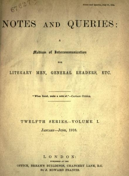 File:Notes and Queries - Series 12 - Volume 1.djvu