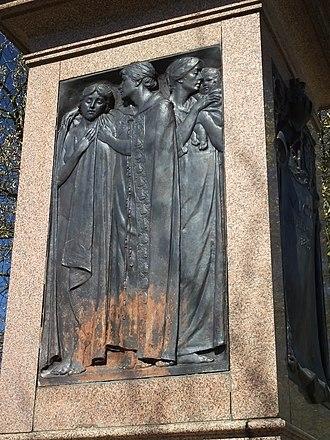 Albert Toft - Pedestal relief below Queen Victoria, Nottingham Memorial Park