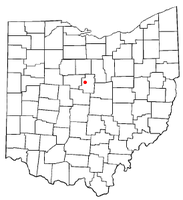 Location of Edison, Ohio