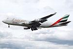 OO-THD Boeing 747-400F Emirates Skycargo (14600958930).jpg