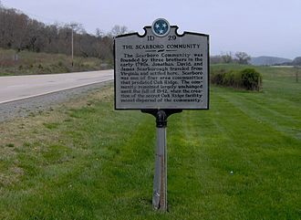 Oak Ridge, Tennessee - Historical marker recalling the now-defunct community of Scarboro