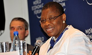 Oby Ezekwesili Nigerian accountant , politician , human right activist, convener of bring back our girls(Chibok girls) and presidential candidate of ACPN party for 2019 presidential election.  Co-founder of Transparency International
