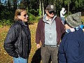 October 13, 2012, Sunderland, MA- Hatchery manager Mickey Novak (center) chats with Northeast Region of the U.S. Fish and Wildlife Service Deputy Director Deb Rocque (left) and Lauren Corbett of the (8091529341).jpg