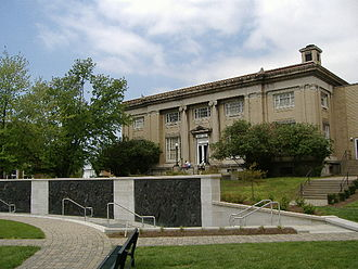 Warder Park - The old Jeffersonville post office, located in the park