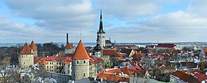 Kesklinn, Tallinn - Tallinn view from Toompea.