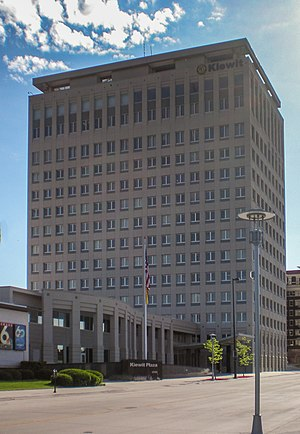 Berkshire Hathaway - Kiewit Tower, the location of Berkshire's corporate offices in Omaha, Nebraska