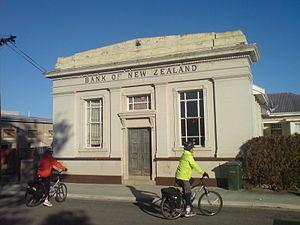 Omakau - Former Bank of New Zealand building.