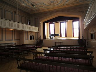 Oneida Community Mansion House - The Big Hall at the Mansion House