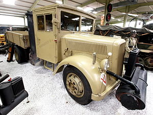 Opel Blitz truck with wooden cab and Imbert wood burning gas unit at Sinsheim.JPG