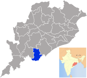 Gajapati district - Image: Orissa Gajapati