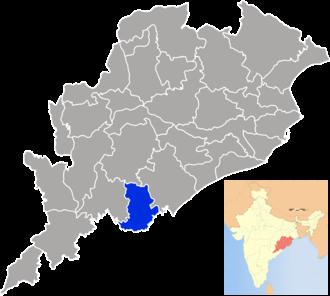 Gajapati district - Image: Orissa Gajapati
