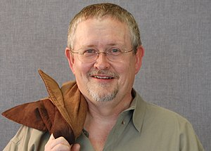 Orson Scott Card - Image: Orson Scott Card at BYU Symposium 20080216 closeup