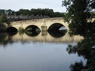 Otley - Otley Bridge, viewed from the South and West side