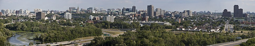 The Ottawa–Gatineau skyline with Autoroute 50 in the foreground