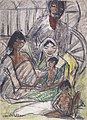 Otto Mueller - Zigeunerfamilie vor Wagen - ca1927.jpeg