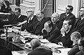 Overzicht regeringstafel met een gapende minister Joseph Luns (KVP), Bestanddeelnr 919-6686.jpg